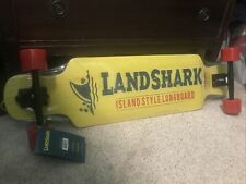 "New Sealed LandShark Island Style Longboard Skateboard 35"" Yellow"