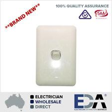 Slim Wafer Single 1 Gang Light Switch White Bakelight Slimline Electrical