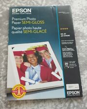 Epson S041327 Premium Semi-Gloss Photo Paper - OPEN BOX - 17 SHEETS