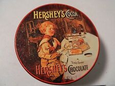 Vintage Hersheys Cocoa Bitter Sweets Chocolate Round Metal Tin Crying Kid