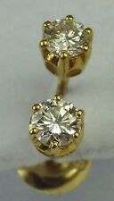 Screw Back (pierced) Very Good VVS1 Fine Diamond Earrings