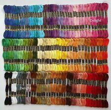 120 Anchor Cross Stitch 100% Pure Cotton Thread Skeins /Floss SOLID COLOURS