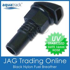 "BLACK NYLON STRAIGHT FUEL BREATHER VENT 16mm 5/8"" - Boat/Car/Water/Petrol Tank"