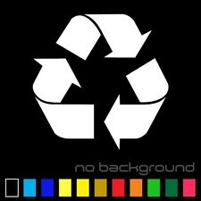 Recycle Sticker Vinyl Decal - Reuse Renew Symbol Trash Work Bin Can Home Window