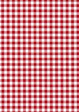 Fablon Sticky Back Vinyl - Self Adhesive - Gingham, Red - 45cm X 2m - FAB12822