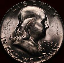 Uncirculated 1953 Philadelphia Mint Silver Franklin Half