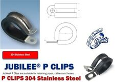 Stainless Steel Rubber Lined P Clips Jubilee Wiring Hose Cable Mounting Clamps