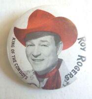 ROY ROGERS TV Cowboy AUSSIE Pinback TIN BADGE1960S LINDSAYS  KING OF COWBOYS!!!