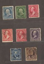 1895 UNITED STATES STAMPS USED 1 / 2 / 3 / 5 & 8 CENTS