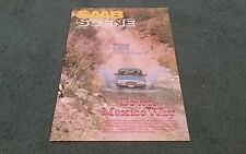 1981 SAAB SCENE VOLUME 4 NUMBER 1 inc 900 99 & TURBO - UK BROCHURE