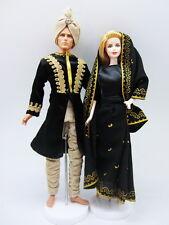 Barbie Ken Black Gold Arabian Nights Indian Fashion Asian Dress Outfit Royalty