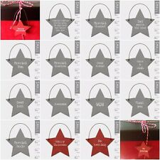 East of India Tiny Miniature Wooden STAR Gift Tags Messages Keepsake