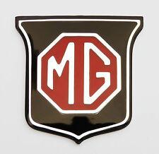 MGB & Mgbgt/Mgb GT rojo y negro Insignia de la parrilla delantera, MG parte ARA2148
