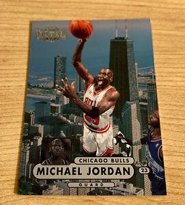 Michael Jordan 1997-98 Skybox Metal Universe Chicago Bulls nice Metal card