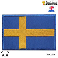 Sweden National Flag Embroidered Iron On Sew On Patch Badge For Clothes etc