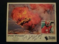 "SPANKY SPANGLER ""STUNT DRIVER"" SIGNED AUTOGRAPH 8x10 COLOR PHOTO 100% AUTHENTIC"