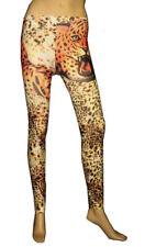 Nueva Sexy Cheetah Animal Print leggiings medias pantalón Gótico Emo Punk Uk Size 6-12