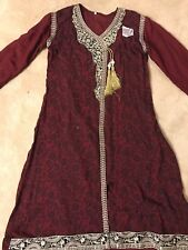 Designer Kurti Kameez Shalwar Pants  3!Piece Formal Wedding Embroiderd Indian