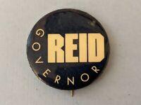 1974 Ogden Reid New York (D) Governor political pin button pinback blue