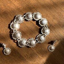 .925 Sterling Silver Sun Bracelet and Earrings