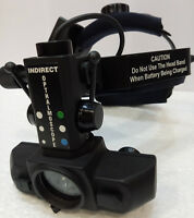 Binocular Wireless LED Indirect Ophthalmoscope with accessories Optometry