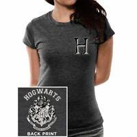 Womens Harry Potter Hogwarts Varsity Logo T-Shirt - Ladies Baseball School Tee