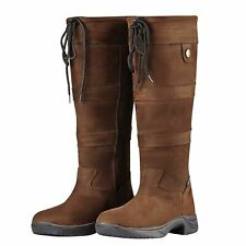 Dublin River Ladies Waterproof Riding Walking Leather Country Boots All Sizes