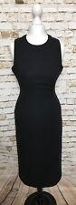 VERSACE VERSUS DRESS 26/40 Black Women's Made In Italy Designer Sleeveless Rare