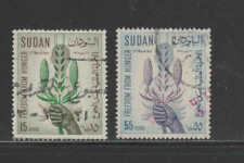 Sudan #160-161 1963 Freedom From Hunger F-Vf Used