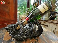 A STUNNING DRAGON GUZZLER WINE BOTTLE HOLDER RACK, GREAT GIFT.