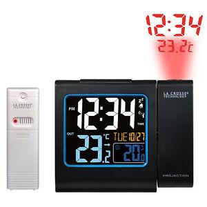 Proyección Reloj Despertador Con Exterior Sensor Temperatura Y Carga USB Puerto