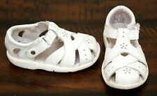 Stride Rite Classic White Leather Sandals sz 4 Toddler Girls Shoes Spring Summer