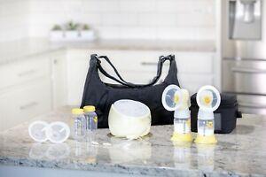 Medela Sonata Smart Breast Pump & XTRA PARTS! Double pumping kit & Flex Shields