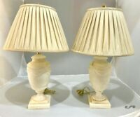 Pair of Vintage Alabaster Table Lamps