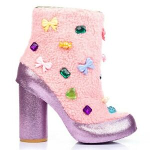 Irregular Choice Bon Bon (A) Pink Sweets Ankle Boots Shoes