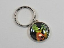 Sunset Moth Wing Keychain Tree of Life Silver Jewelry