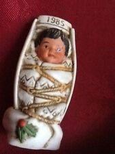 GREGORY PERILLO SAGEBRUSH KIDS CHRISTMAS FIGURINE 1985  INDIAN BABY PAPOOSE