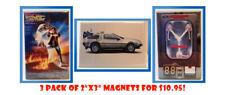 "Back to the Future Magnets 3 Pack 2""x3"" Refrigerator Locker Retro"