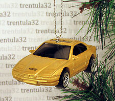 BMW 850i GOLD SPORTS CAR CHRISTMAS TREE ORNAMENT XMAS