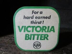 1980's Circa Victoria Bitter Coaster X 1 Carlton & United Breweries Limited Aus