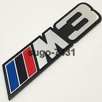 1x Car Metal M3 Power Sport Fender Door Side Sticker Badge Emblem Gift For Him