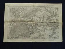 Landkarte von Frankreich Gruppe I, Soissons 33A, 1:80000, von 1917, 1.Weltkrieg