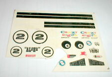 #2 Aloha Slot Stars Model Car Decals AMT 9101-7 Vintage 1/24 Water Slide Used