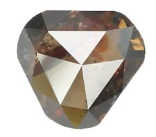 Natural Loose Diamond Brown Champagne Color Shield I1 Clarity 0.89 Ct KR1193
