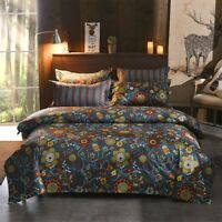 Ethnic Style Printing Bedding Set Duvet Quilt Cover+Sheet+Pillow Case Four-Piece