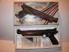 VINTAGE CROSSMAN AIR GUN Model 1322 MEDALIST .22 Caliber Pellet Gun Pistol WBOX
