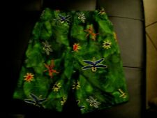 Old Navy Dark Green Leaves & Multi-Color Bugs Swim Trunks Shorts Size 2T