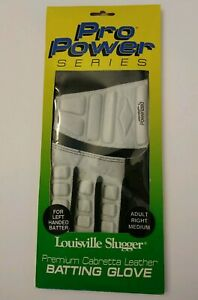 Louisville Slugger Batting Glove  Adult Right Medium For Left Handed Batter NOS