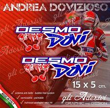 2 Adesivi Stickers DOVI Dovizioso 04 Ducati Replica15 x 5 cm DESMODOVI Desmo