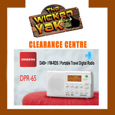 Sangean DPR-65 Digital Portable Travel Radio DAB+/FM-RDS+AUS WNTY+Pouch White